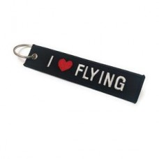 I love flying, Embroidery keychain, double side