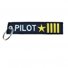 Pilot Tag, Embroidery keychain, double side