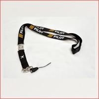 Pilot Lanyard, carbon fiber garment,  metal buckle, executive look