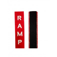 RAMP uniform badge, embroidery, sticky adhesive