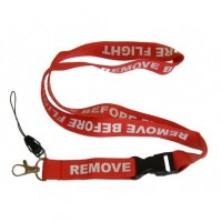 Remove Before Flight Lanyard, red