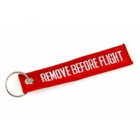Remove before flight Tag, Embroidery keychain, double side