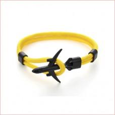 Anchor Bracelets Men Women Charm Rope Chain Couple Bracelet Metal Airplane yellow