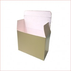 Packing box, golden colour, 200gsm card