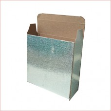 packing box, silver, 200gsm card