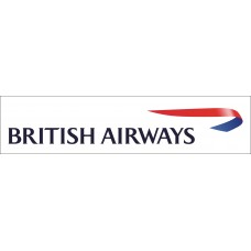 British Airways vinyl sticker, printed with white background, 12 inch wide