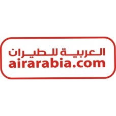 Air Arabia Logo vinyl sticker, transparent, waterproof, 12 inch wide