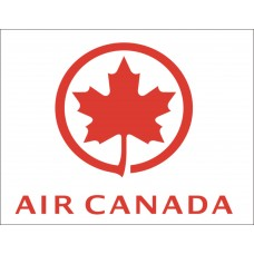 Air Canada Vinyl Sticker, printed with white background, waterproof