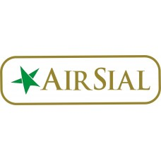 Air Sial Logo vinyl sticker, transparent, waterproof, 12 inch wide