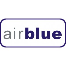 Airblue Logo vinyl sticker, transparent, waterproof, 12 inch wide