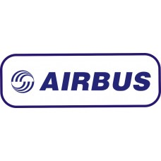 Airbus Logo vinyl sticker, transparent, waterproof, 12 inch wide
