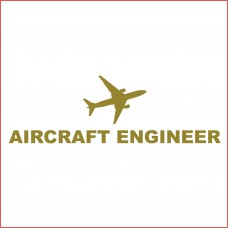 Aircraft Engineer car  Sticker, transparent, 10 inch wide