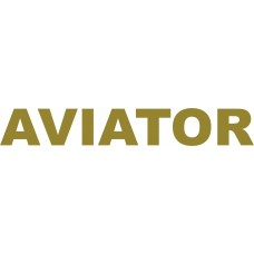 Aviator Car Sticker, transparent, 10 inch wide