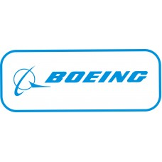 Boeing  Logo vinyl sticker, transparent, waterproof, 12 inch wide