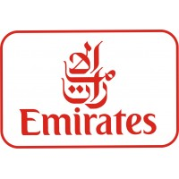 Emirates Logo vinyl sticker, transparent, waterproof, 12 inch wide