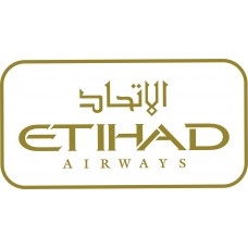 Etihad Airways Logo vinyl sticker, transparent, waterproof, 12 inch wide