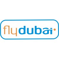 Fly Dubai Logo vinyl sticker, transparent, waterproof, 12 inch wide