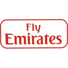 Fly Emirates vinyl sticker, transparent, waterproof, 12 inch wide