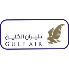 Gulf Air Logo vinyl sticker, transparent, waterproof, 12 inch wide