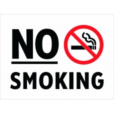 No Smoking, waterproof, white background 7x4 inch