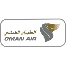 Oman Air Logo vinyl sticker, transparent, waterproof, 12 inch wide