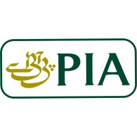 PIA Logo vinyl sticker, transparent, waterproof, 12 inch wide