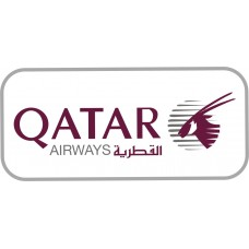 Qatar Airways Logo vinyl sticker, transparent, waterproof, 12 inch wide