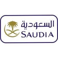 Saudia Air Logo vinyl sticker, transparent, waterproof, 12 inch wide