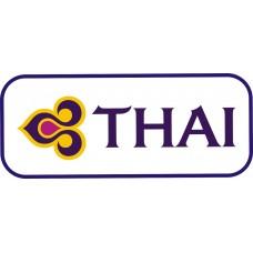 Thai Air Logo vinyl sticker, transparent, waterproof, 12 inch wide